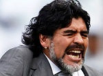 Maradona certainly had the hair but it had little effect at the 2010 World Cup