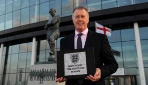 Sir Geoff Hurst at Wembley Stadium