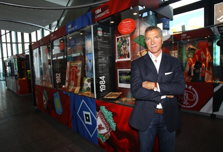 Graeme Souness at the Exhibition of Champions display at Wembley