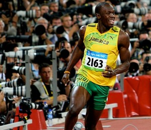 The track is of the same type of material that saw Usain Bolt smash the 100m record