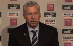 Pardew appears to be interested in a young starlet