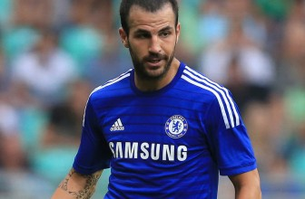 Cesc Fabregas was in a cheeky mood on Wednesday during Chelsea's Bridge Kids party